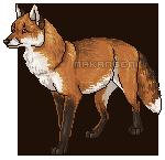 Fox pixel by makangeni