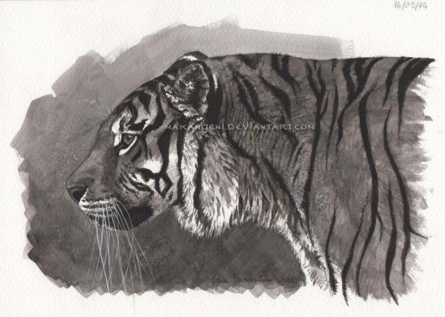 Siberian tiger by makangeni