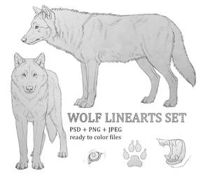 Wolf Linearts set by makangeni
