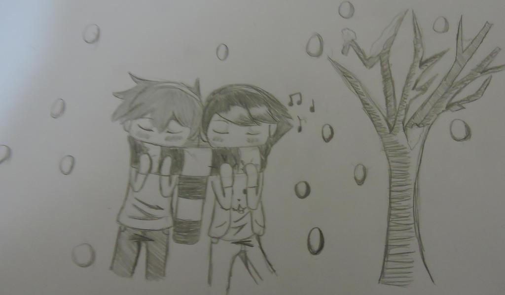 DTMG: Snow hug by LittlePuffy4ever