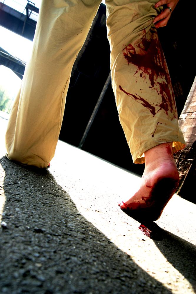 bloody footprints by RandomPudding