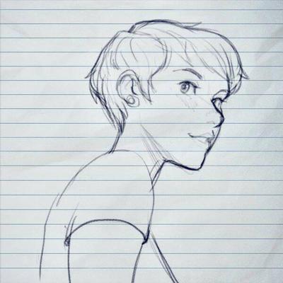Female sketch by Drag0nDud3