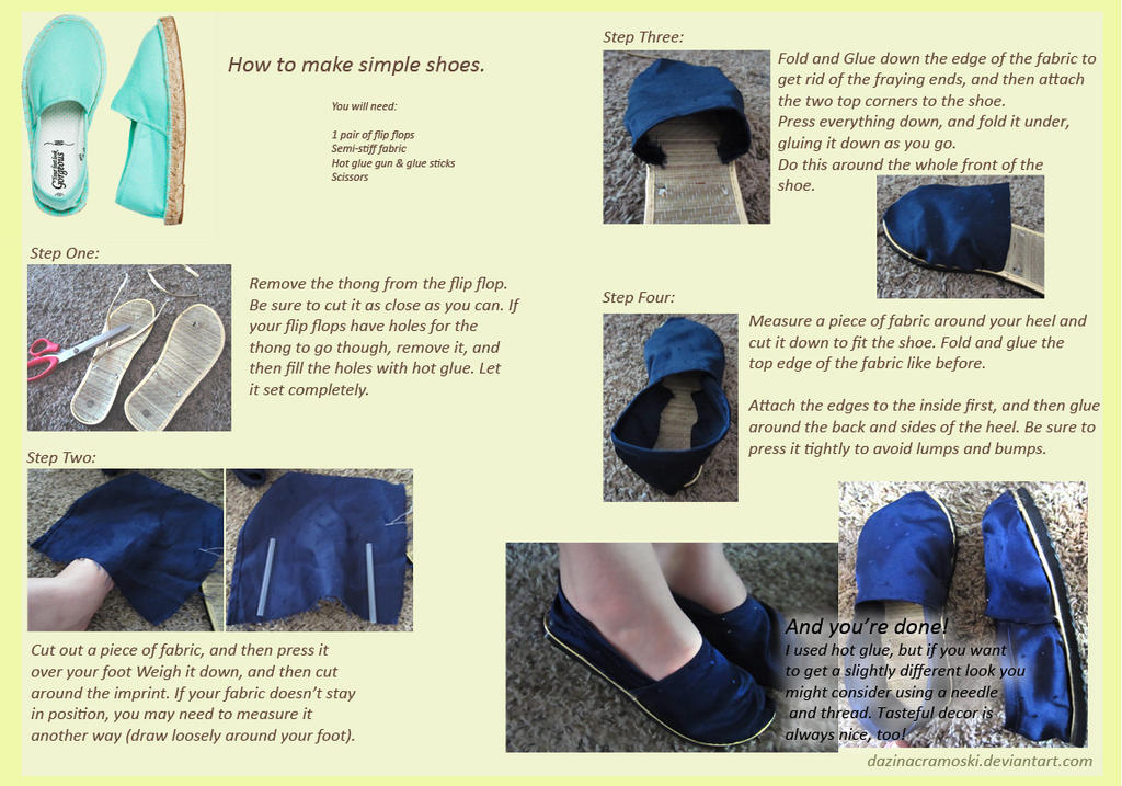 Simple Shoe Tutorial by DazinaCramoski