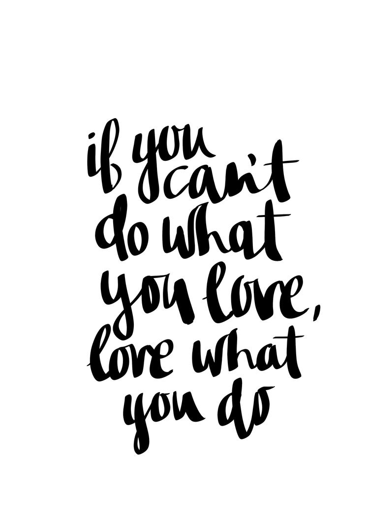 If you can't do what love, love what you do by cocorie