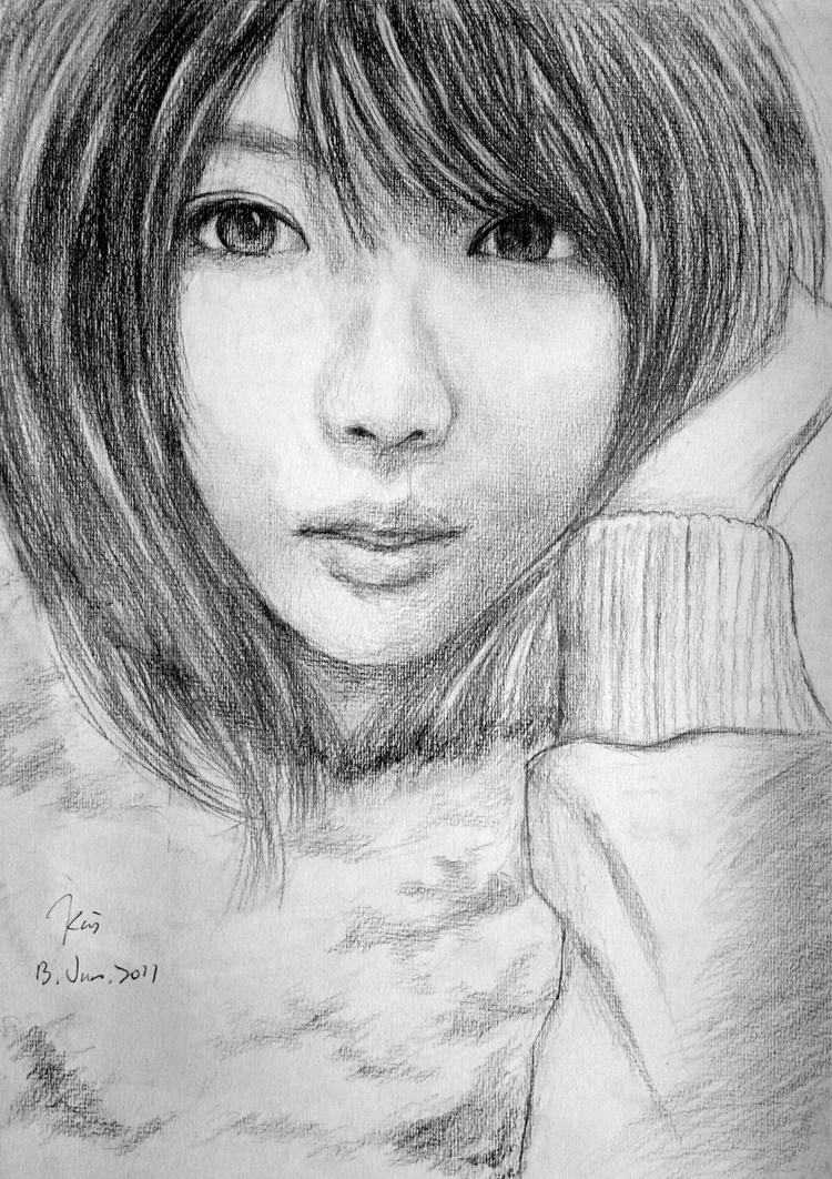 Cute Girl With Short Hair Drawing Anlis