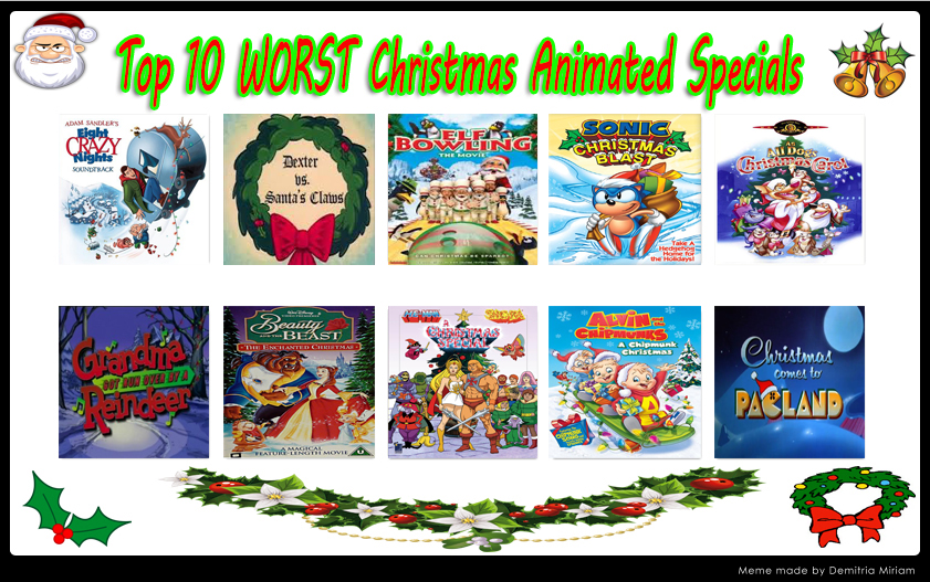 Top 10 WORST Christmas Animated Specials by kouliousis on DeviantArt