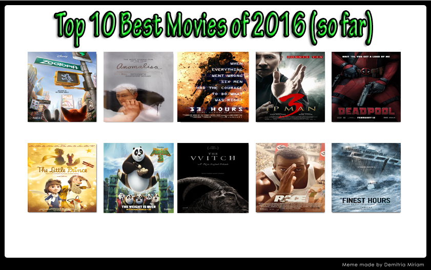 top 10 best movies of 2016 so far by kouliousis on. Black Bedroom Furniture Sets. Home Design Ideas