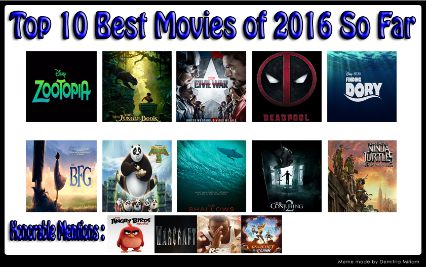10 great movies of 2016