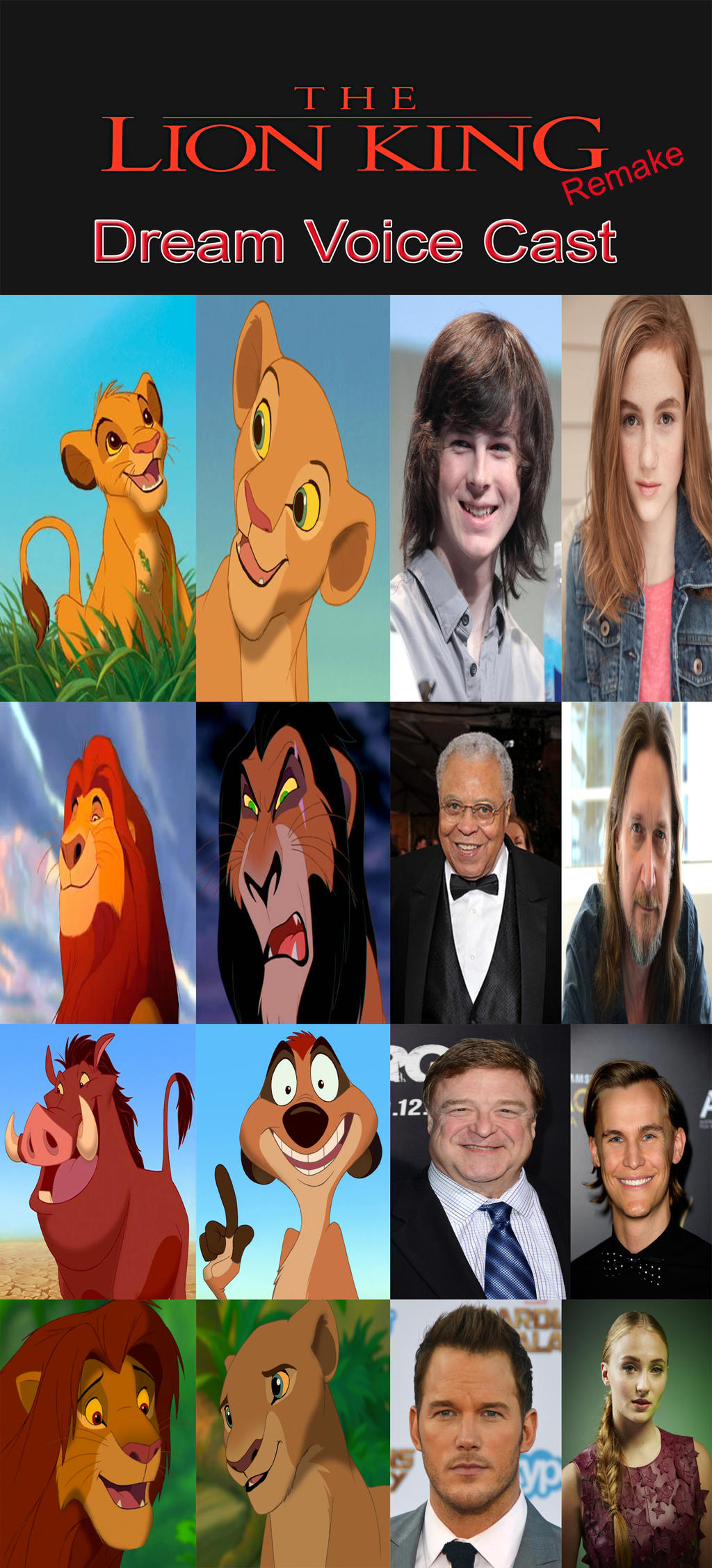 The Lion King Remake Dream Main Cast By Kouliousis On ...