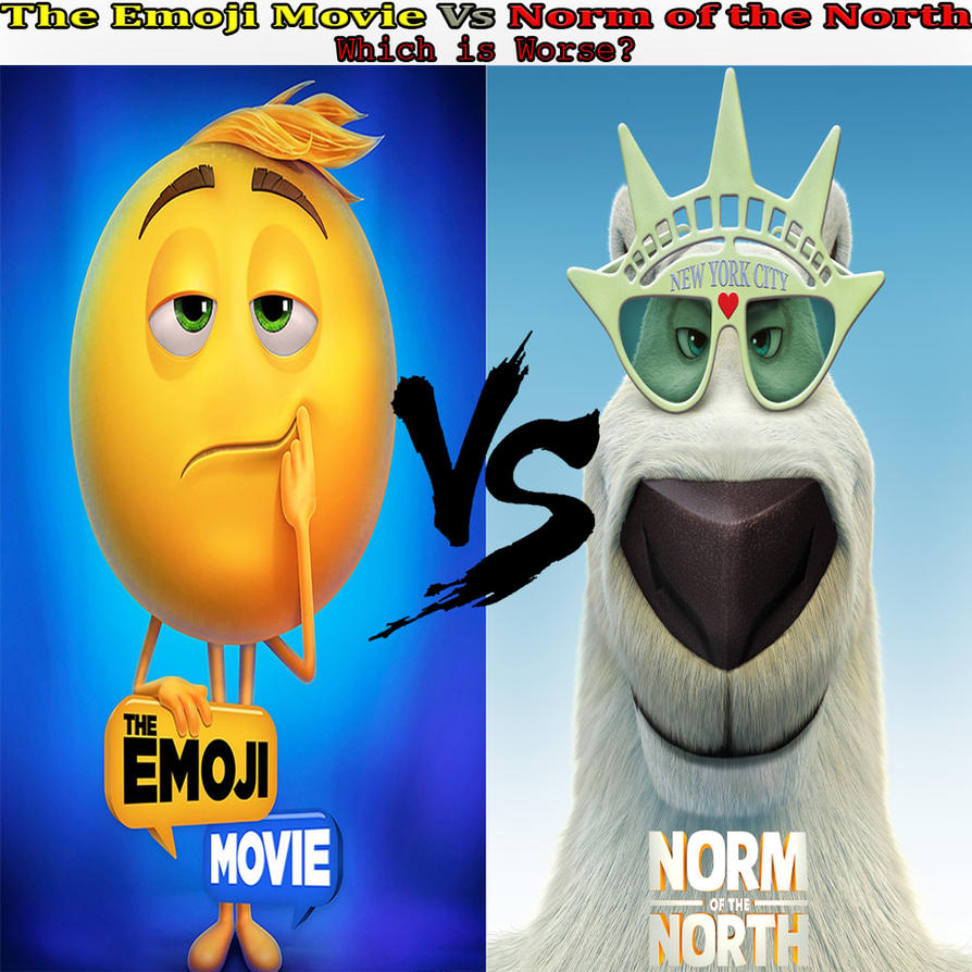the emoji movie vs norm of the north by kouliousis on deviantart. Black Bedroom Furniture Sets. Home Design Ideas