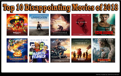 Top 10 Disappointing Movies Of 2018