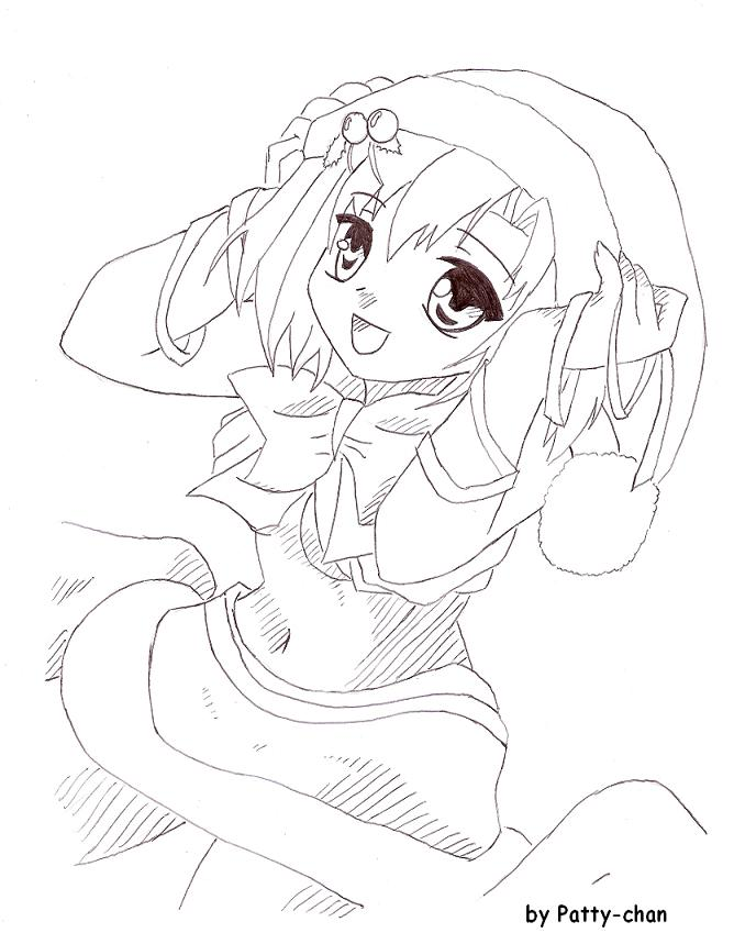 Anime Christmas Girl By Patttyy On DeviantArt