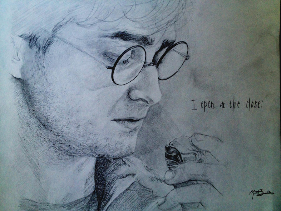 It is a photo of Soft Harry Potter Snitch Drawing