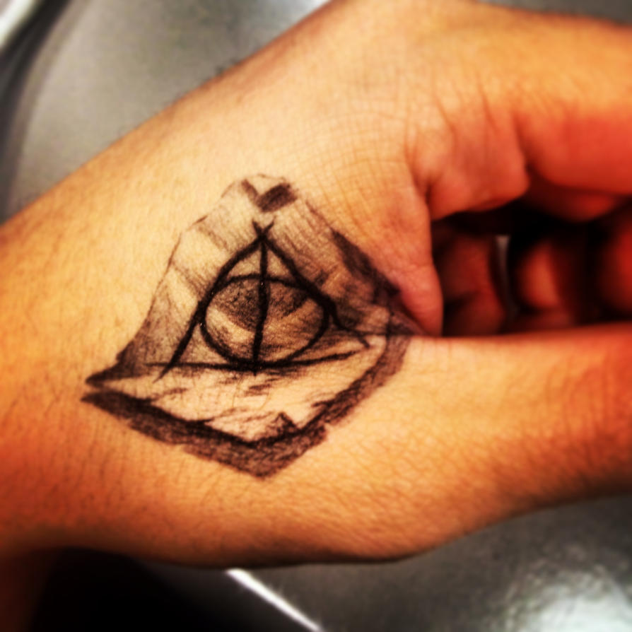 Deathly hallows tattoo pen by sampl3dbeans on deviantart for Tattoo with pen