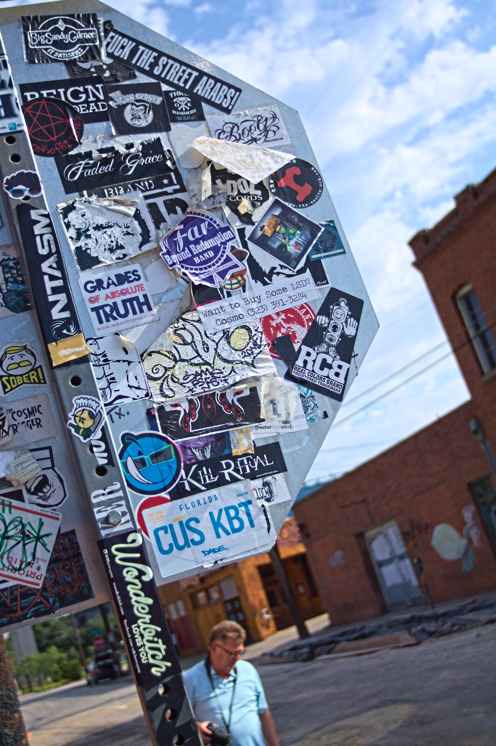 Stickers everywhere by DeepSlackerJazz