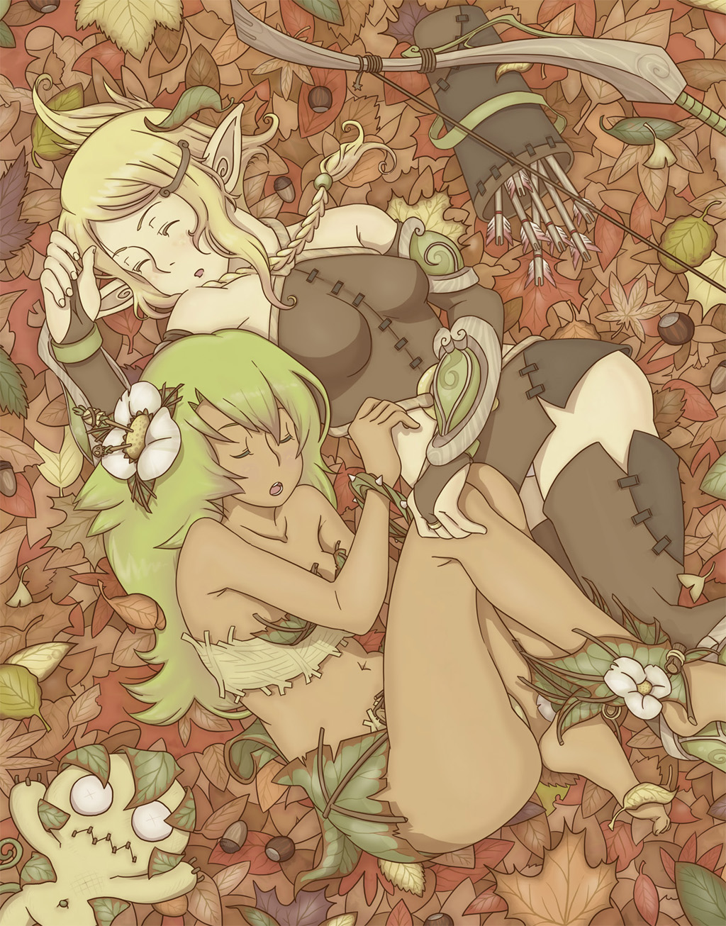 Wakfu girls in autumn by vinhnyu