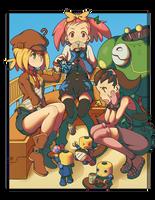 Megaman Tribute: Legends Girls by vinhnyu