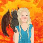 Daenerys and Drogon by Nicoleshy