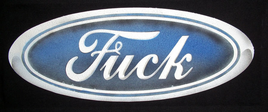 FORD LOGO I MEAN FUCK LOGO by javiercr69