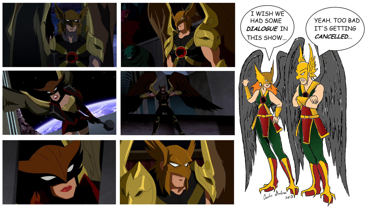 Hawkman and Hawkgirl React to Young Justice by WibbitGuy
