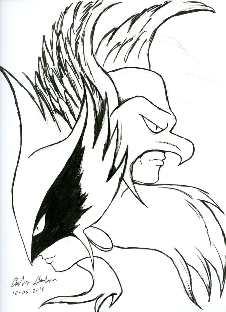 Inktober 6 2014: Hawkman and Hawkgirl Stylized by WibbitGuy