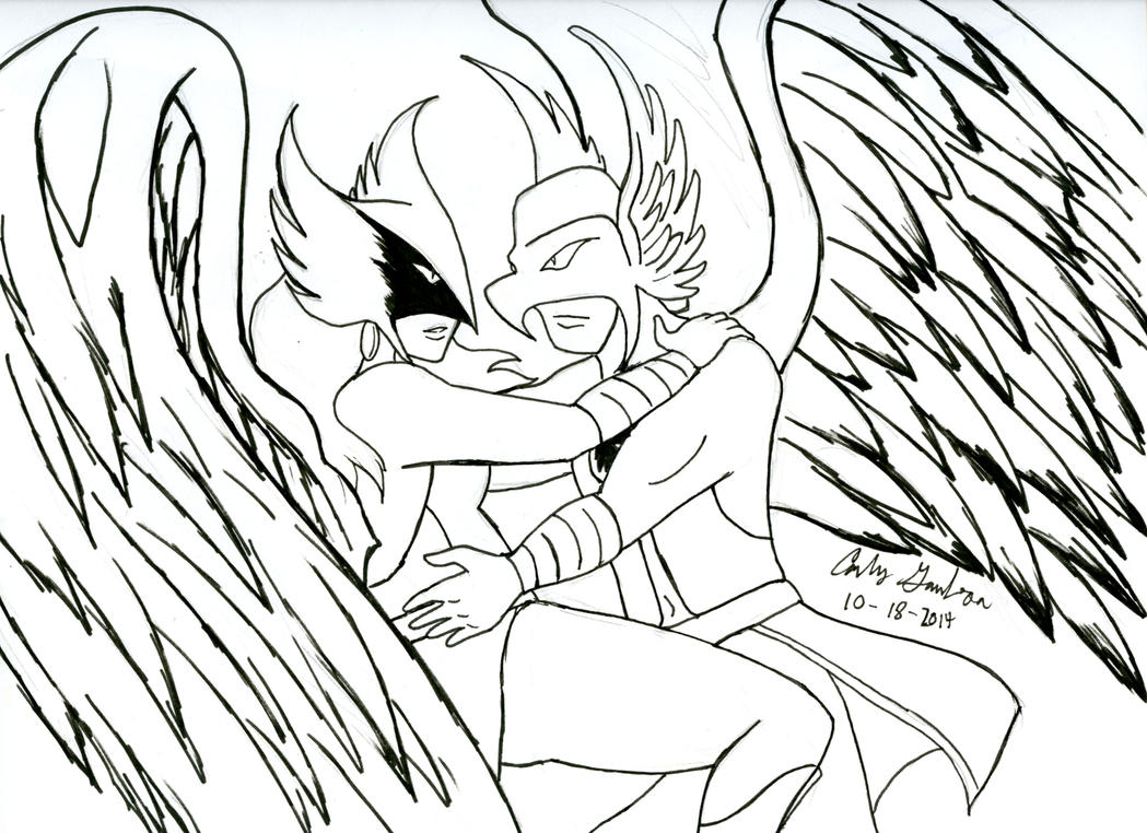 Inktober 18 2014: More Hawkman and Hawkgirl! by WibbitGuy