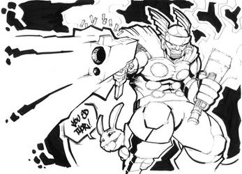 Sketchbomb SF - Thor by vincentkukua