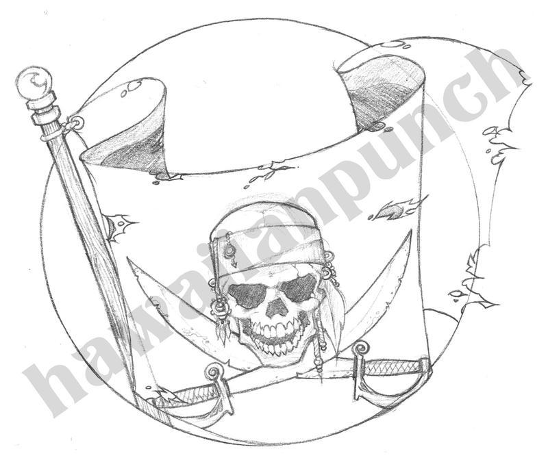 pirate tattoo design by vincentkukua on deviantart. Black Bedroom Furniture Sets. Home Design Ideas