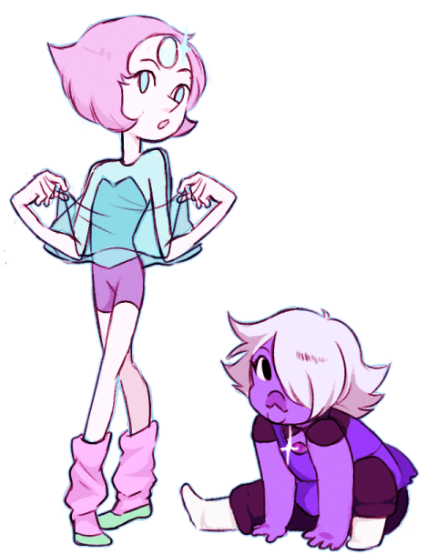 "from the episode ""story for steven""  i loved their outfits so much when they were much younger gems~"