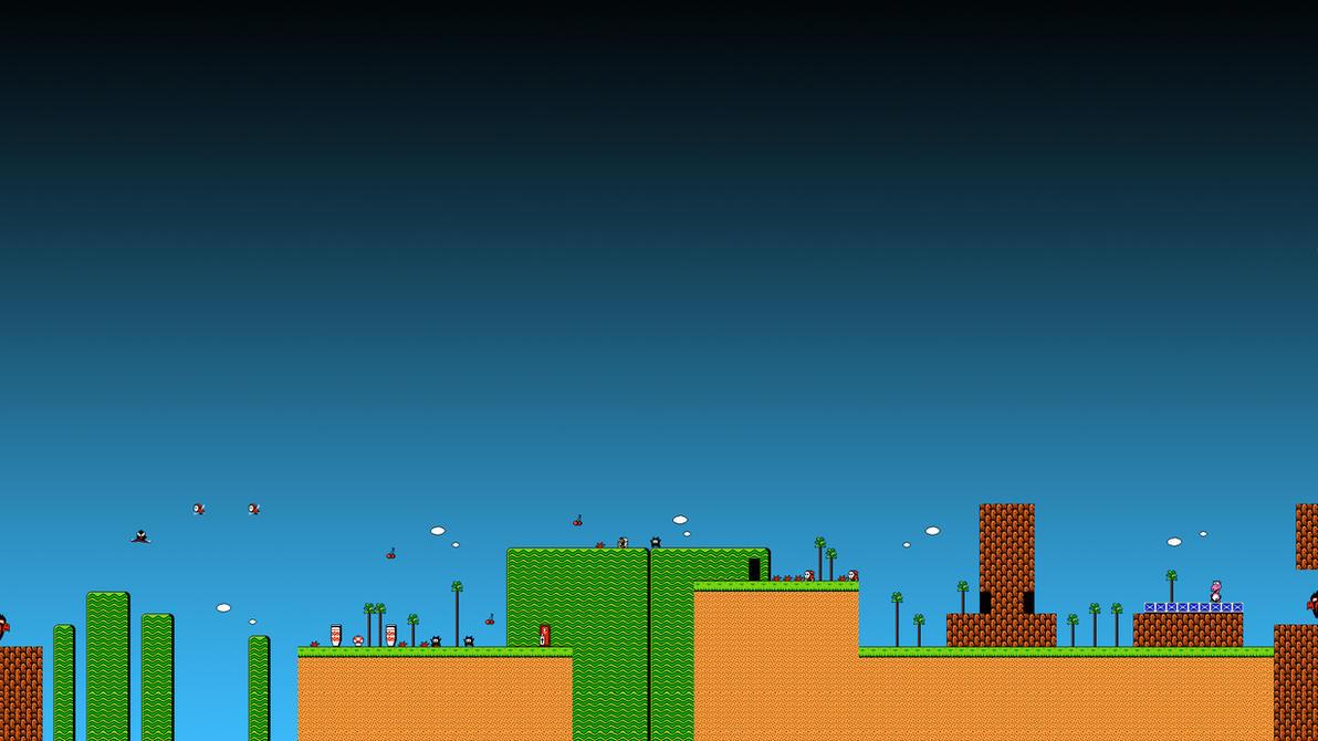 Super Mario Bros. 2 - 1-1 Wallpaper - HD 1080p by ColinPlox