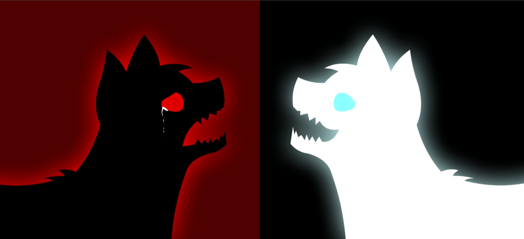 Dark dog x light dog by LN-Polar