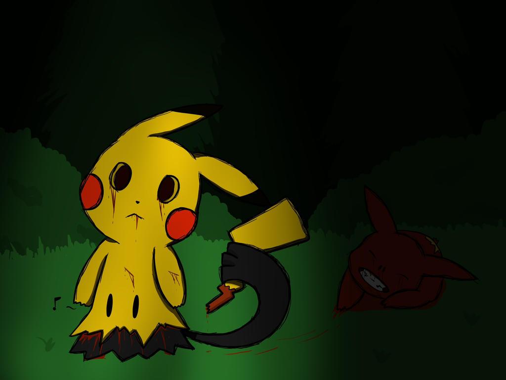 I am a real pikachu - Mimikyu by LN-Polar