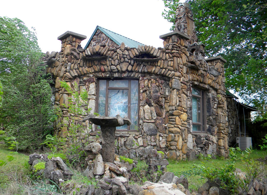 Stone house by buzzyg on deviantart for Cobblestone house