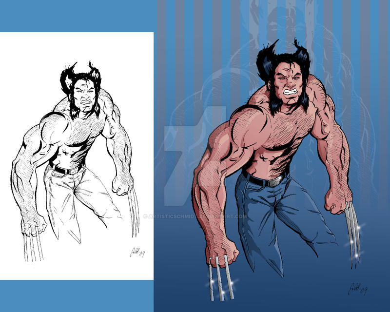 Wolverine Sketch colored by ArtisticSchmidt