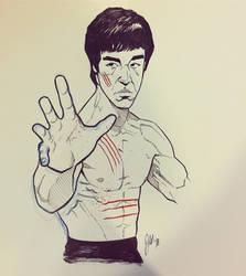 Bruce Lee Sketch by ArtisticSchmidt