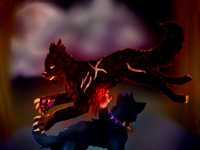 Tigerstar VS Scourge by Luna748Fire