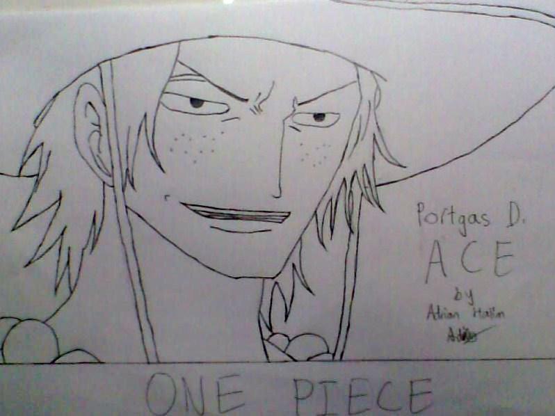 One Piece Lineart : Ace one piece lineart by halloffamer02 on deviantart