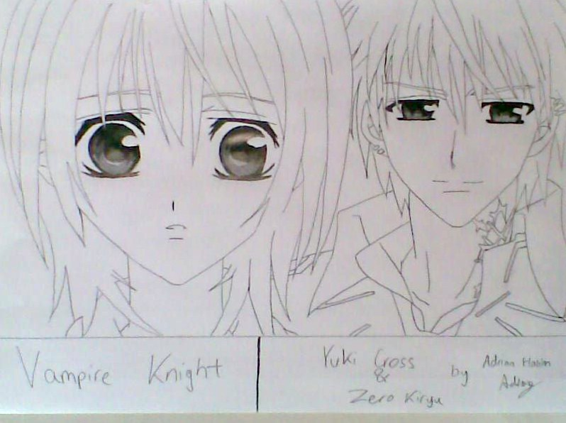 Line Art Zero : Yuki and zero lineart by halloffamer on deviantart