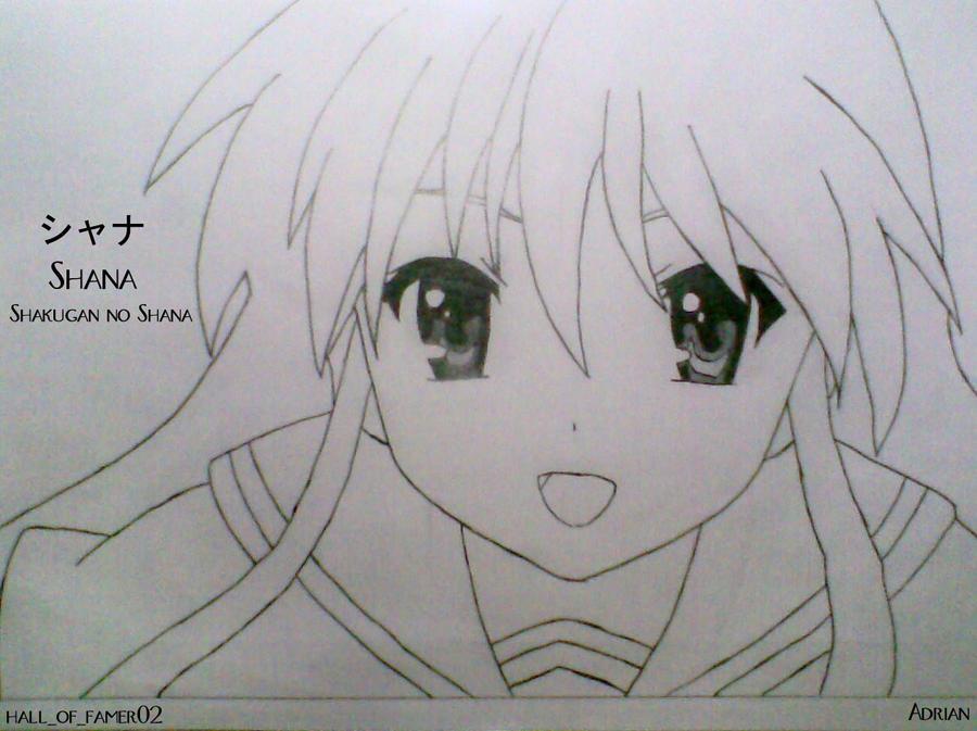 Line Art Anime : Shana lineart by halloffamer on deviantart