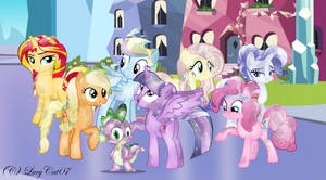 Crystalized Mane 7 and Spike