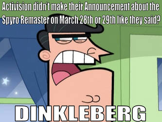 Blame Dinkleberg on the Trolling about Spyro by Shelbi-Cat