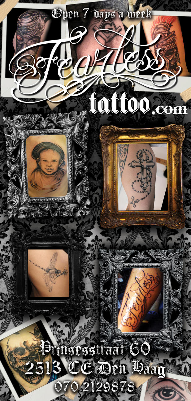 flyers for fearless tattoo by shu01 on deviantart. Black Bedroom Furniture Sets. Home Design Ideas