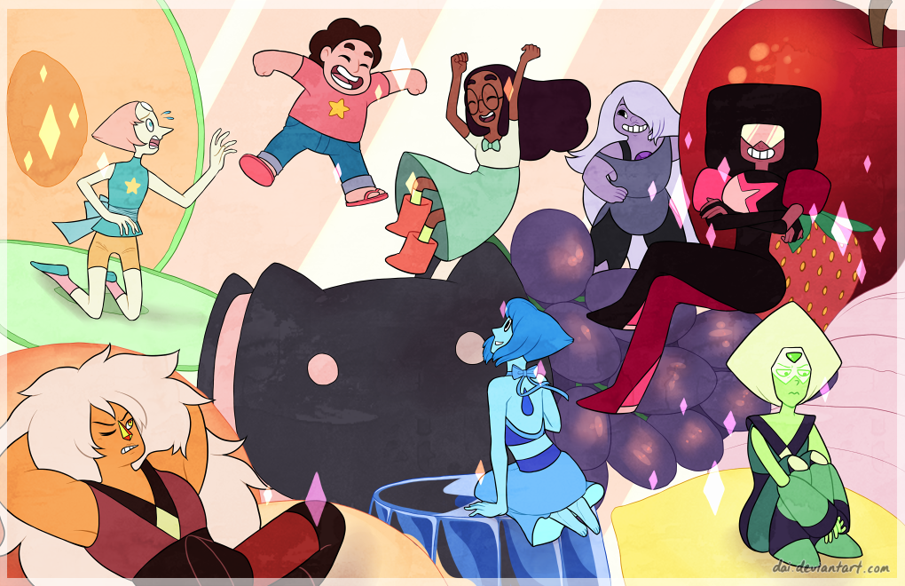 FANART WE ARE THE CRYSTAL GEMS By Dai