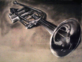 Trumpet- Charcoal by WitheringOctopus