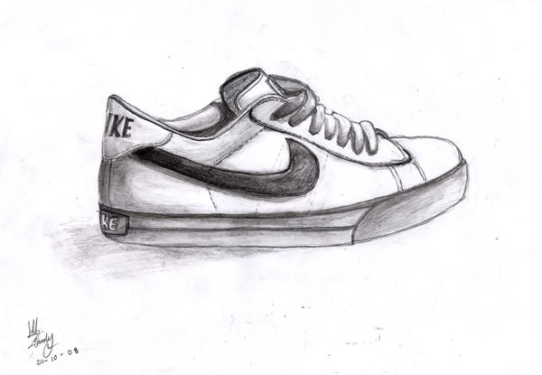 how to draw nike shoe