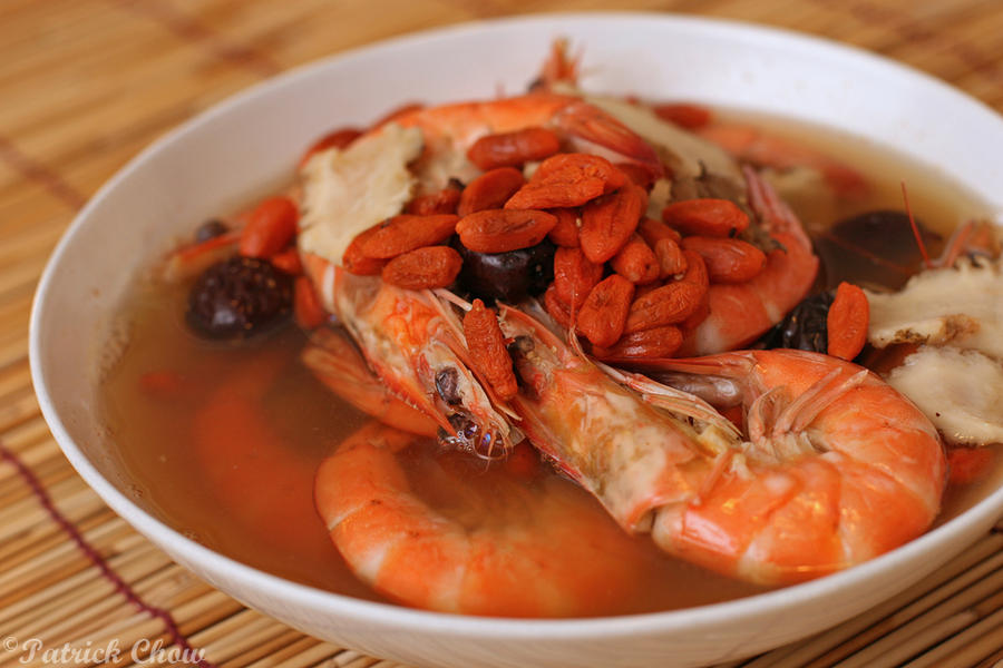 Drunken prawns by patchow