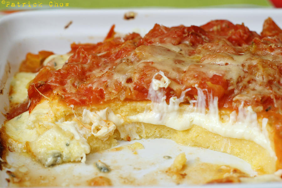 Cook with no books polenta baked with cheese - Baked polenta cheese recipes ...
