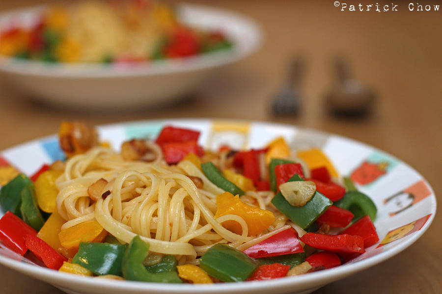 Traditional aglio olio by patchow