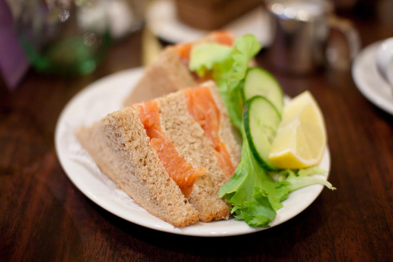 Smoked salmon sandwich by patchow