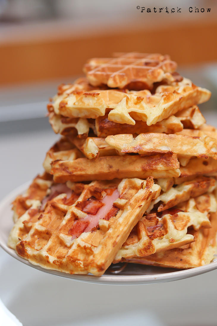 Ham and cheese waffles 3 by patchow on DeviantArt